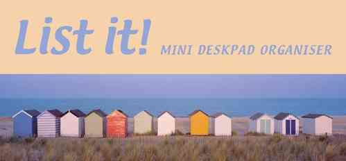 Beach Huts List it! Deskpad